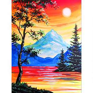 DIY 5D Diamond Painting Kits for Adults & Kids, Colorful Full Drill Crystal Rhinestone Diamond Embroidery Arts Craft Pictures Paint by Number for Home Wall Decor, Landscape 12x16inch
