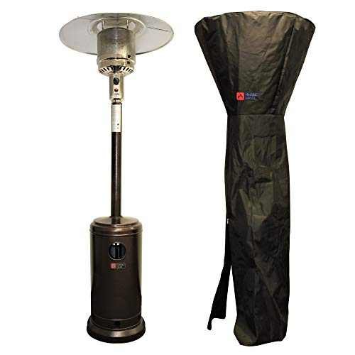 Molten Heat Portable Outdoor Patio Heater with Wheels, Propane 46000 BTU, Commercial and Residential, with Weather Proof Cover