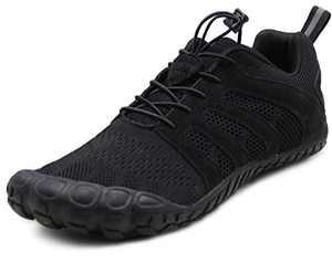 Oranginer Mens Workout Shoes Barefoot Wide Toe Box Womens Hiking Minimalist Cross Training Shoes Black Men Size 10 Women Size 11