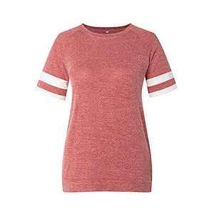 TOPIA STAR 2021 Womens Crewneck Sweatshirts Short/Long Sleeve T-Shirt Tunic Tops (Red, L)