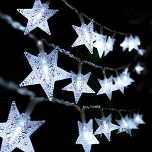 Star String Lights Christmas - USB & Battery Operated Waterproof 100 LED 33 FT Twinkle Fairy String Lights with 8 Modes for Bedroom Home Indoor Outdoor Party Christmas Tree Wedding Garden Decoration