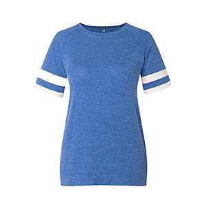 TOPIA STAR 2021 Womens Crewneck Sweatshirts Short/Long Sleeve T-Shirt Tunic Tops (Deep Blue, XXL)