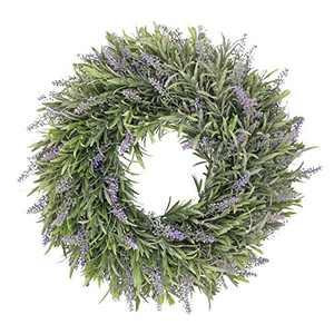 White Artificial Wreath Eucalyptus Loosestrife Ring Pastoral Wedding Door Decoration Outdoor Window Wreath Easter (Purple -2)