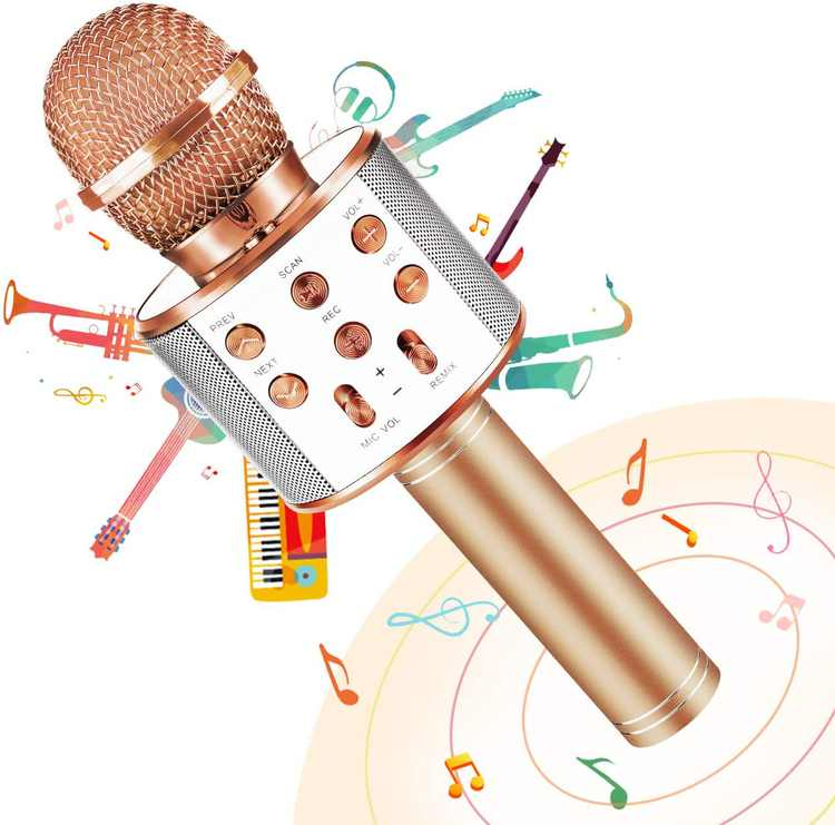 GIFT4KIDS Kids Toys for 4 5 6 7 8 9 Year Old Girls Boys Gifts,Bluetooth Microphone for Birthday Gifts for 4-12 Year Old Girls Toys Age 5 6 7,Children Singing MicrophoneMachineGifts for Girl Age 6-11
