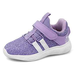 FJWYSANGU Toddler/Little Kid Boys Girls Shoes Running Sports Sneakers Soft Breathable Purple 13 Little Kid