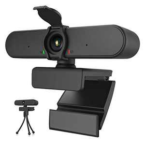 Webcam with Microphone,HD 1080P Webcam with Privacy Cover and Stereo Microphone,Streaming Web Camera for Desktop/Laptop Computers,USB PC Webcam for Video Conferencing/Gaming/Recording/Online Class