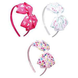 3pcs Jojo Bows Headbands Grosgrain Ribbon Headband with Bow Hair Bows Hair Bands for Girls (STYLE-3)