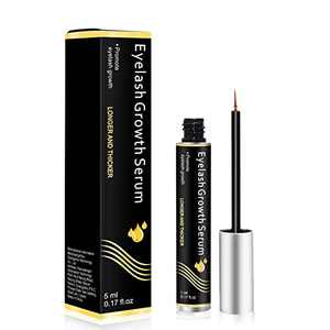 Eyelash Growth Serum and Eyebrow Enhancer Brow Serum with Biotin & Natural Growth Peptides for Longer, Fuller Thicker Lashes & Brows