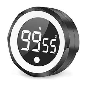 Digital Kitchen Timer Magnetic for Cooking Countdown Food Timer with LED Display Round Egg Timer Two-Level Volume,Digits LED Stop Timer for Learning Exercise,Visual Timer Kid,Teacher,Classroom