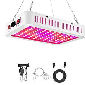 Focuslux 1000W LED Grow Light Full Spectrum Indoor Plants Growing Lamp Double Chips Veg and Bloom with Daisy Chain for Greenhouse Hydroponic