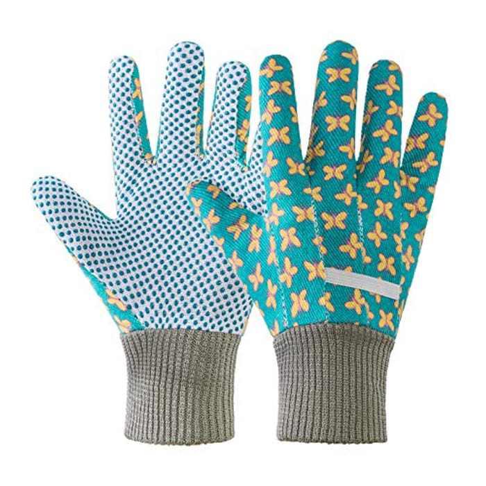 2 Pairs Women Gardening Gloves, Ladies Gardening Gloves Non-Slip Grip Garden Gloves for Yard, Cleaning with Soft PVC Dots (multicolor, 2)