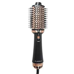 Plavogue One-Step Hair Dryer Brush,Blow Dryer Brush with Dual Voltage,Volumizer Hot Air Brush Hair dryers for Women,Upgraded International Travel Version