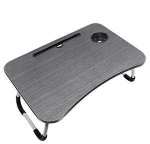 Laptop Bed Table Tray,Portable Lap Desk with Foldable Legs&Cup Holder,Perfect for Reading,Writing,Working and Eating,Family Laptop Stand for Bed/Sofa/Couch/Floor for Kids/Adults/Students