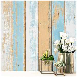 SUNBABY Peel and Stick Wallpaper Wood Wallpaper Self-Adhesive Removable Wallpaper Wall Decor for Home Refurbish Decoration (17.71'' X 118.11'') Three-Color Wood Grain Wall Paper