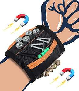 Magnetic Wristband Tools, Stocking Stuffers Christmas Gifts for Men Dad, Cool Gadgets Gifts for Boyfriend Him Husband, Magnetic Belts with Strong Magnets for Holding Screws, Nails, Drill Bits