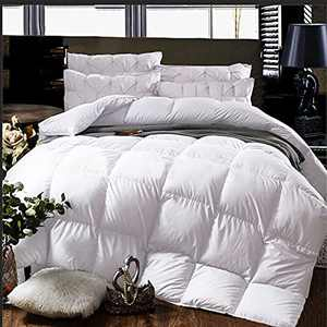 Cheeerrrs White Down Alternative Comforter Lightweight Bedding Comforters All Season-Duvet Insert Comforter with Coner Tabs-Oversized Queen(98x98 inches)
