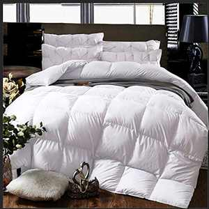 Cheeerrrs White Down Alternative Comforter Lightweight Bedding Comforters All Season-Duvet Insert Comforter with Coner Tabs-California King(104x96 inches)