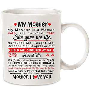 Mother's Day Gift For Coffee Cups Best Mom Ever 11 oz Ceramic Tea Cup Birthday Presents for Mothers (white3)