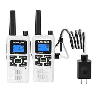 FRS Two Way Radio SAMCOM FWCN30A Rechargeable Handheld Walkie Talkie Long Range 22 Channels with NOAA Weather Alert/Flashlight/LCD Display/Call Tone/Group/Keypad Lock (2 Packs)