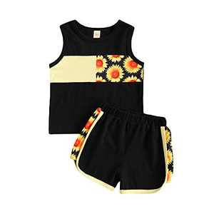 Summer Little Boy Clothes Set Beach Style Outfit MAMA'S Boy Sleeveless Vest Top+Coconut tree Shorts Set Suit 2Pcs (Leopard Black, 12-18 Months)