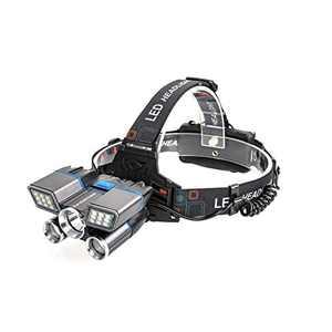ZeroDarkness Headlamp, 1200 Lumen Ultra Bright LED Headlight, Aluminum Alloy Headlamp, USB Rechargeable Headlamp