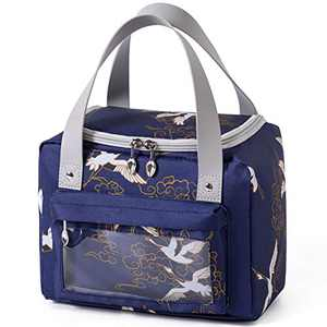 Insulated Lunch Bags for Women, Reusable Lunch Box for Office Work Beach Picnic Workout Travel, Leakproof Tote Lunch Bag Organizer with Touch Screen Pocket for Adult