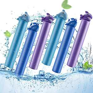 Lejof Water Guns for Kids, 4 Pack Foam Water Blaster Pool Toys, Water Toys for Courtyard Pool Beach Yard and Park Play (6 Animal)