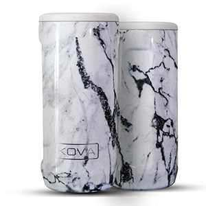 KOVA outdoors K-OG Double-Walled Stainless Steel Insulated Can Cooler for 12 Oz Slim Cans (Marble)