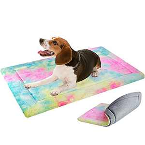VANKEAN Stylish Dog Bed Mats Reversible(Cool and Warm),Dog Bed Pads for Small to XX-Large Dogs,Dog Pad Mat for Dog Sleeping,Machine Washable Soft Dog Pad Mat,Colorful