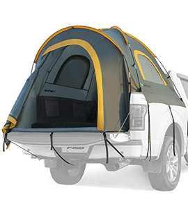 JoyTutus Pickup Truck Tent (Gray Orange, Aluminum Rod)
