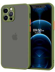 TAWIKO Protective Case, Compatible with iPhone 12 Pro Max Case (6.7 Inch-2020), Ultra-Slim, Shockproof, Lightweight, No-Slip, and Scratch Resistant (Olive Green)