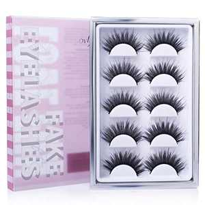 Lovefun False Lashes Variety Pack Of 5, Reusable Handmade Fake Eyelashes from Natural Look to 3d Dramatic Look, LF01