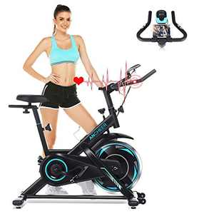 ANCHEER Exercise Bike 300 lb Capacity - Adjustable Resistance Indoor Cycling Bike - Stationary Bike with 35lb Flywheel, LCD Monitor and Tablet Holder, Spin Bike for Home