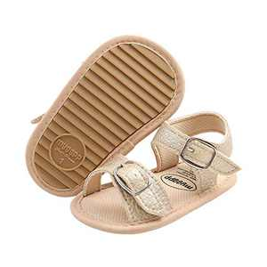 Baby Sandals, TMEOG Toddler Boys Girls Sandals Rubber Sole Soft Anti-Slip First Walkers Infant Summer Shoes