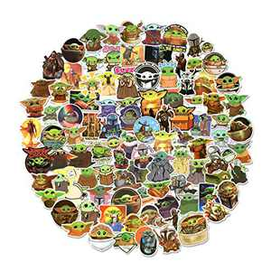 Yoda Stickers 100 Ppcs Laptop Vinyl Waterproof Stickers Variety Pack for Luggage Computer Skateboard Car Motorcycle Decal
