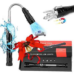 Stocking Stuffers Christmas Gifts for Men Dad, Magnetic Pickup Tool with LED Lights, Birthday Gifts for Boyfriend Father Husband Him from Daughter Son, Telescoping Flashlight Gadgets for Mechanics