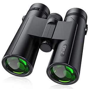 12x42 Binoculars for Adults, HD Binoculars with Clear Low Light Vision, Waterproof Compact Binoculars for Bird Watching, Hiking, Traveling, Hunting and Sports Events