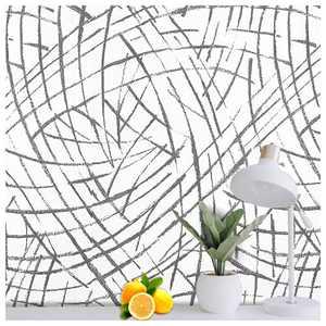 SUNBABY Black Imprint Wallpaper Modern Art Wallpaper Countertop Adhesive Paper Peel and Stick Wallpaper Removable Living Room Bedroom Home Wall Decor Furniture Refurbish Decor(17.32'' X 118.11'')