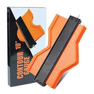 Contour Gauge (10 Inch) Profile Tool - Adjustable Lock,Precisely Copy Irregular Shape Duplicator for DIY Handyman, Construction, Woodworking, Cool & Unique Gifts for Mens Him Dad Husband
