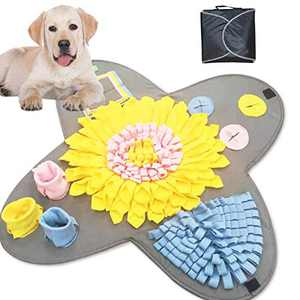 FODOSON Snuffle Mat for Dog - Interactive Dog Toy for Training Natural Foraging Skills - Activity Feeding Mat for Stress & Anxiety Relief - Machine Washable (Grey)