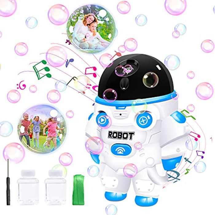 Bubble Machine for Kids, Automatic Bubble Blower 3500+ Per Minute Bubbles, Bubbble Machine with Lights & Music, Toddler Outdoor&Garden Toys, Best Gifts for Boys Girls.