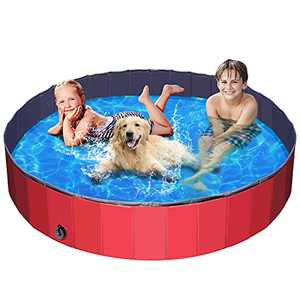 Foldable Dog Swimming Pools Dog Pet Bath Pool Collapsible Dog Pet Pool Bathing Tub Hard Plastic Kiddie Pool for Dogs Cats and Kids