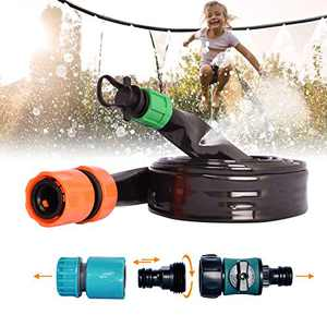Upgraded 39.3FT Trampoline Sprinkler,Durable thickened Material,Self-Cutting Design,with Anti-leakage Connector,Fit for Faucet and Water Hose,Summer Outdoor Cool Thing,Funny Water Toy Gift for Kids