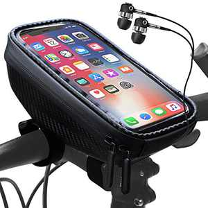 "Bike Phone Front Frame Bag Mountain Bicycle Accessories Mount Holder Handlebar Bags Waterproof Bike Bag Front with Sensitive Touch Screen Large Capacity Phone Case for 6.5"" iPhone 12 Plus Xs Max"