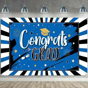 2021 Graduation Decorations Party Backdrop Large Banner for Class, Grad Photography Background Congrats Sign Graduation Favors Supplies and Prom Booth Indoor Outdoor (Red)