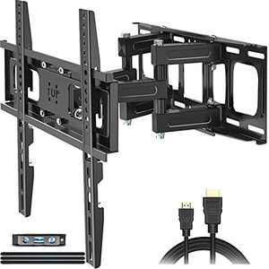 """Full Motion TV Wall Mount,JUSTSTONE TV Wall Mount Swivel and Tilt TV Mount with Height Setting,TV Bracket Articulating Arms for Most 32-65 Inch Flat Curved TVs up to 121lbs,Max VESA 16""""x16""""(400x400mm)"""