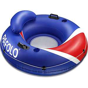 """Pool Floats Adult, Lake Floats for Adults Heavy Duty, Water Floats for Adults, River Run I Sport Lounge with Headrest, 53"""" Diameter, 2 Cup Holders/2 Heavy-Duty Handles"""