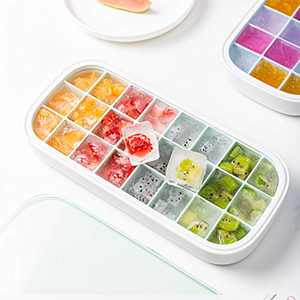Ice Cube Trays With Lids Large Silicone Ice Cube Tray For Freezer Whiskey Ice Cubes