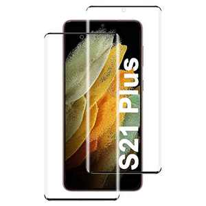 2 Pack Screen Protector for Galaxy S21 Plus 6.7 inch, Ultrasonic Fingerprint Support, HD Clear, Anti-Scratch, Bubble Free, Full Coverage for Samsung Galaxy S21 Plus 5G Tempered Glass Screen Protector