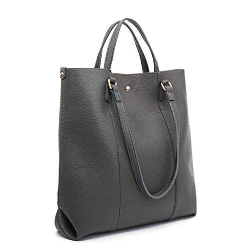 Soft Leather Tote Bag for Women Basic Top Handle Handbags Large Plain Shoulder Bags B2B MWC-021GY